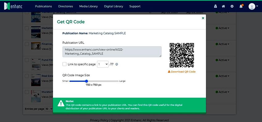 Enhanc Launches QR Code Feature